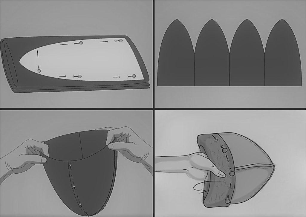 Пошив шапки из флиса