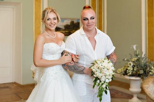 Шпак с женой свадьба
