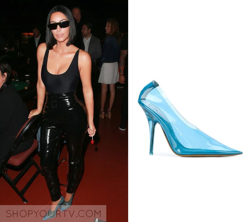 Kim kardashian clear pumps