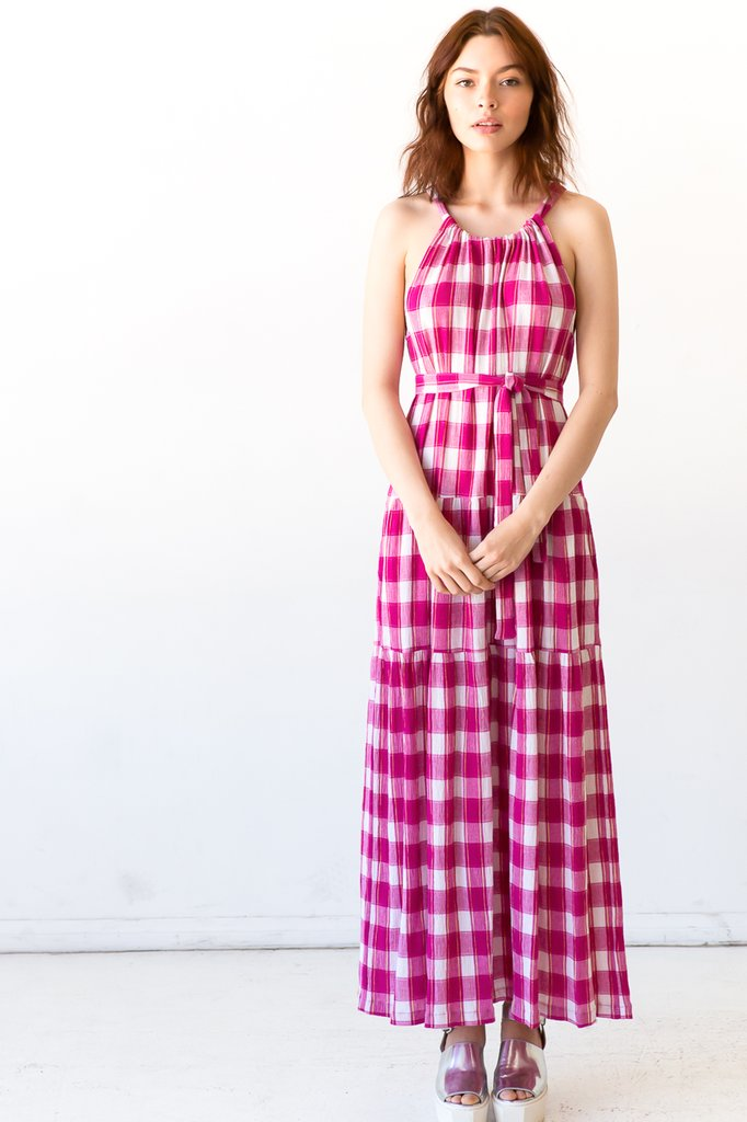 Pink tartan daphne dress