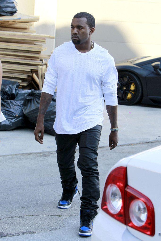 Kanye west black shoes