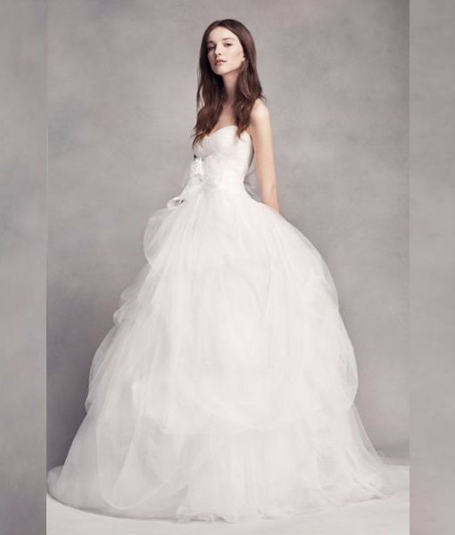 Vera wang tulle wedding dresses