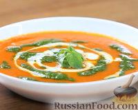 Фото к рецепту: Томатный суп с песто