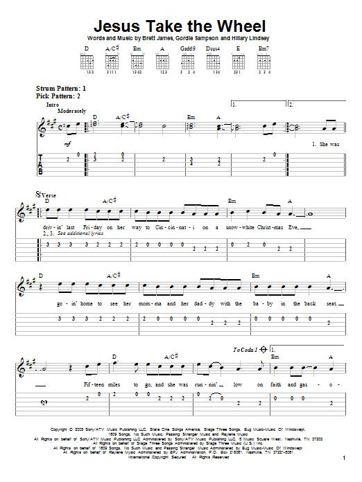 Carrie underwood guitar tab