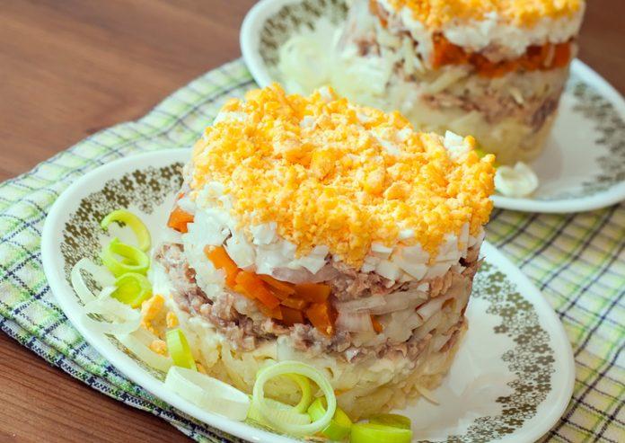 Мимоза без моркови и картофеля рецепт