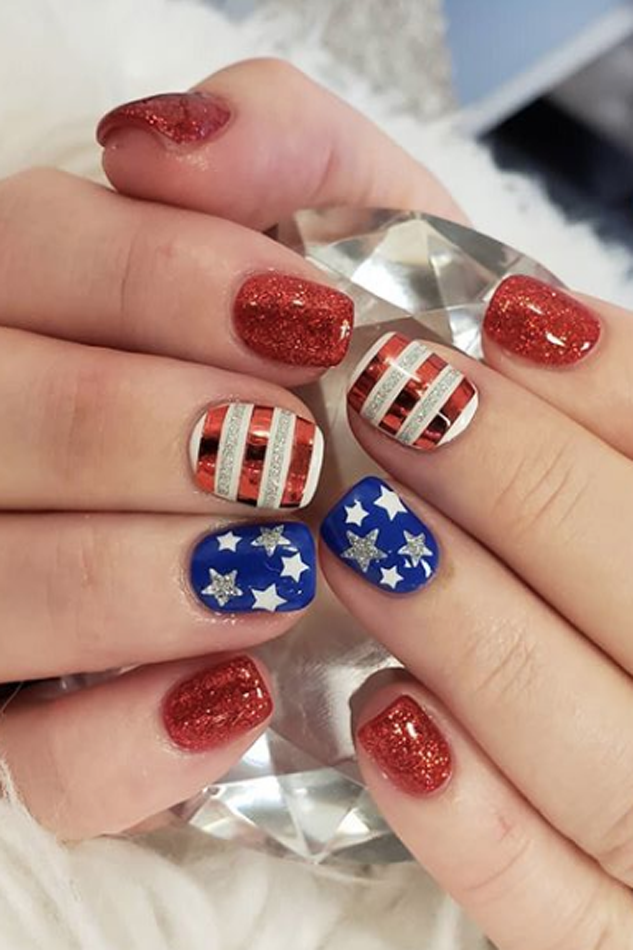 4th of july designs for nails