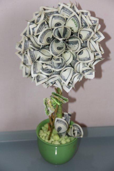 Дерево из денег на свадьбу