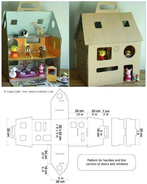 сумка-дом для кукол