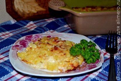 Картошка с курицей в духовке со сметаной рецепт