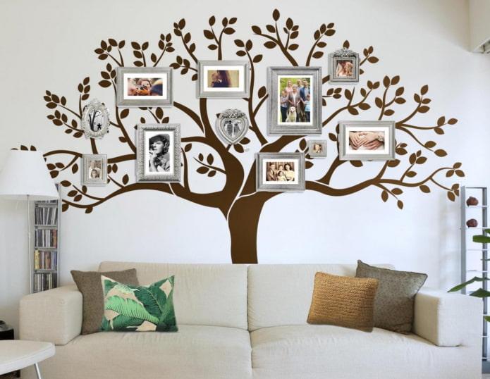 фотографии в форме дерева в интерьере