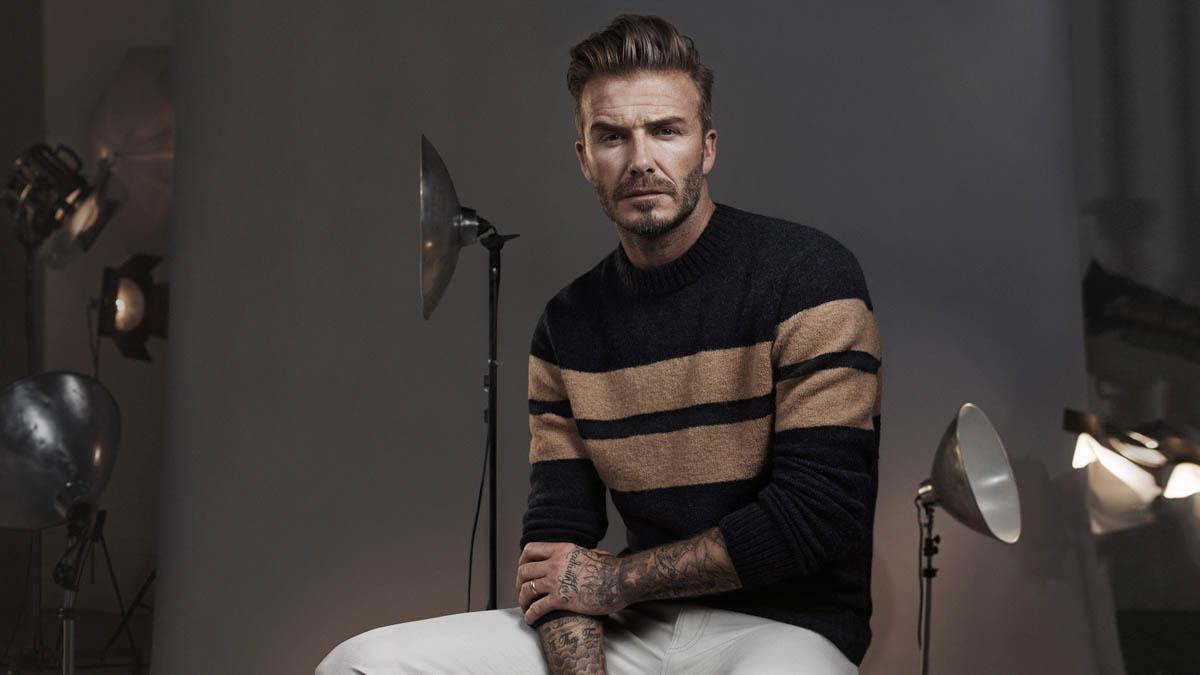 David beckham plaid shirt