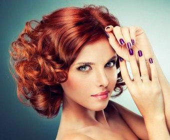 Укладка для пушистых волос средней длины