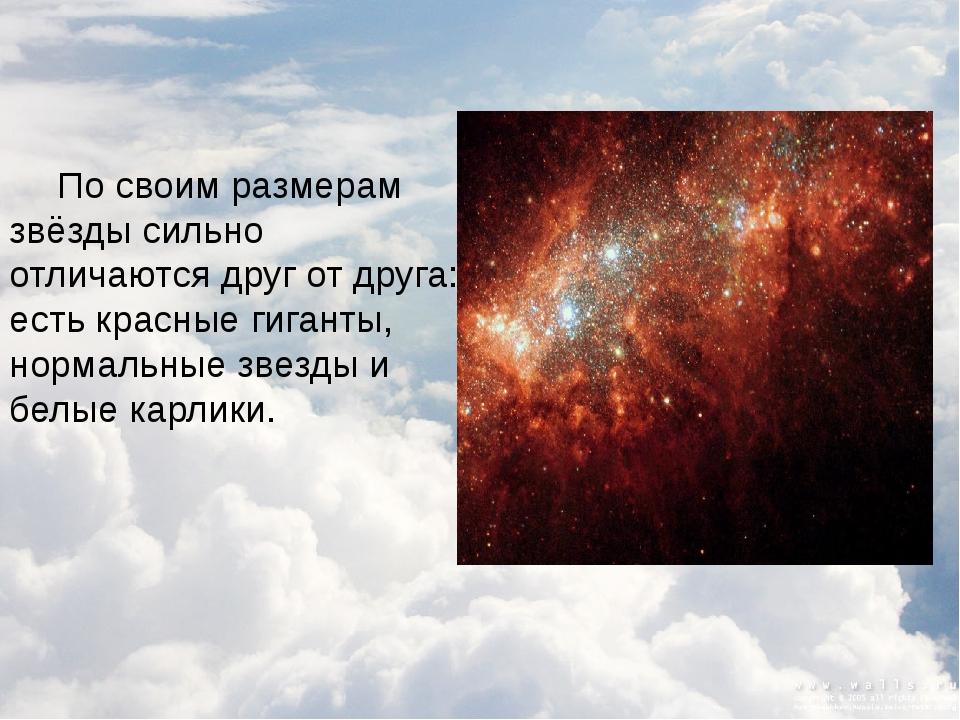 Чем отличаются звезды друг от друга