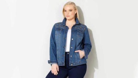С чем носить джинсовую куртку полным женщинам