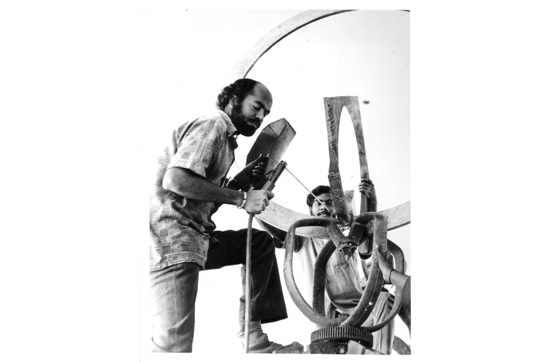 Balan Nambiar in Mild Steel Studio in 1975