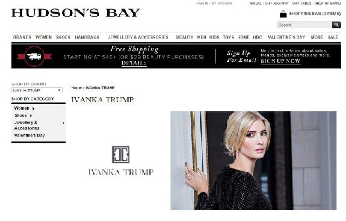 Ivanka trump dresses at the bay