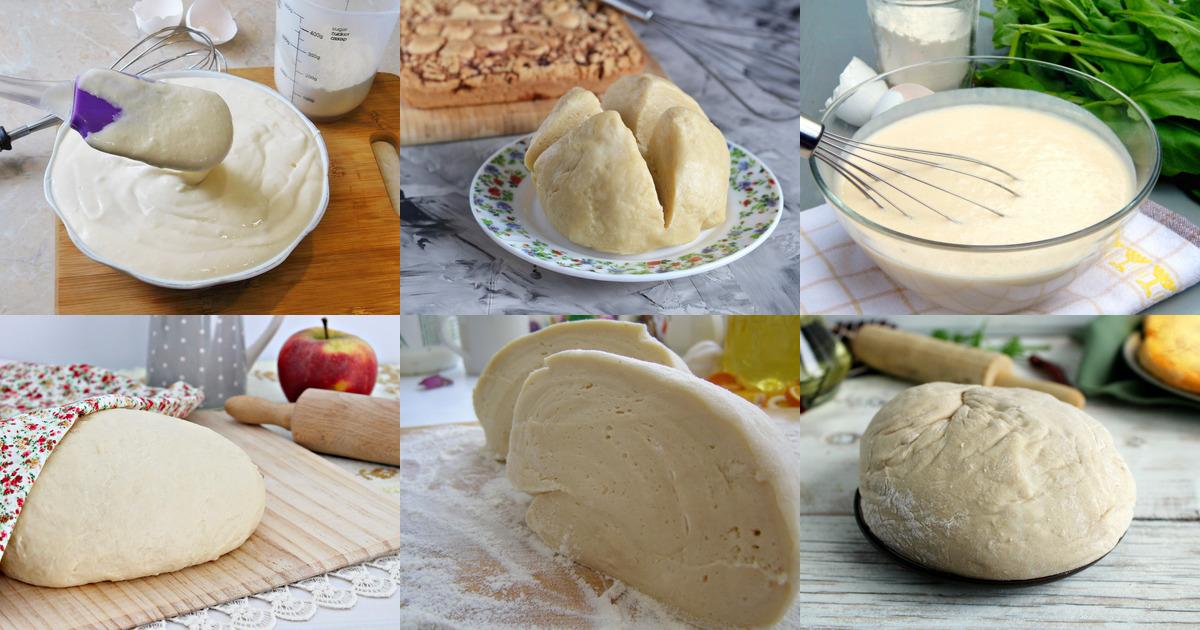 Простое тесто для пирогов в духовке