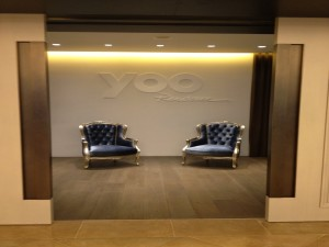 Yoo Residence, Customized Art Furniture, Blue Arm Chairs