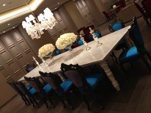 Green x Yoo Residence, Customized Art Furniture, Blue Dining Chairs