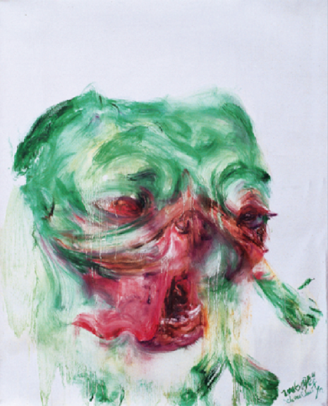 Green Dog, 70 x 56 cm