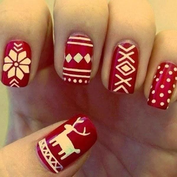 Christmas design nails tumblr