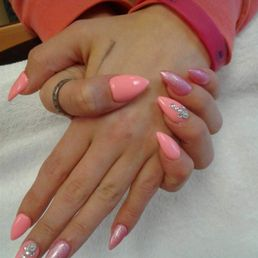 Photo of Pink Nails & Spa - Lynnwood, WA, United States. My nails right now ;)