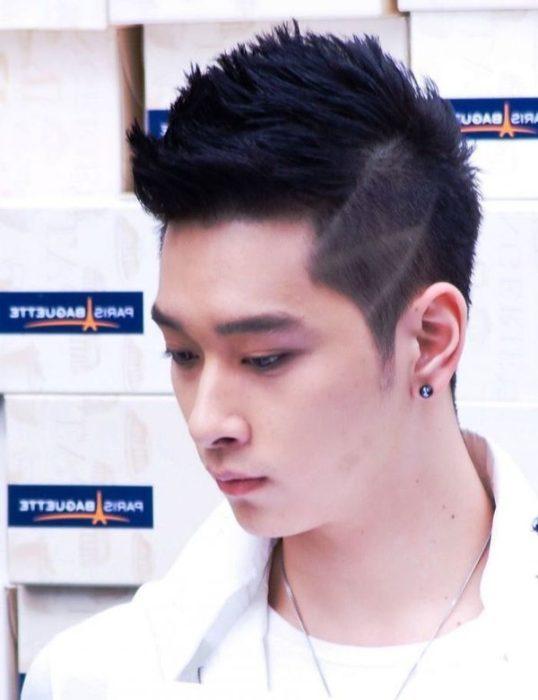 Fauxhawk Hairstyle for Korean Boys