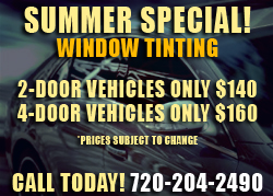 Longmont Auto Detail - Summer Special Window Tinting