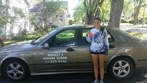 Mackay's Driving School - Student who completed their drivers ed class