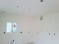 Randymars Contractors - Drywall and Plastering example - in progress after