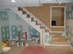 Randymars Painting and Contractors - Basement remodel - Drywall and taping photo