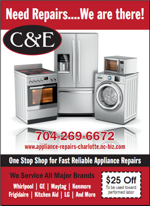 C & E Appliance Service Repair - Banner