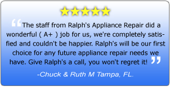 Ralph's Appliance Service- Review