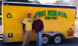 Junk Guy Austin - Shaking Hands with a client