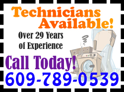 Area Appliance Services - Appliance Technicians Available Graphic