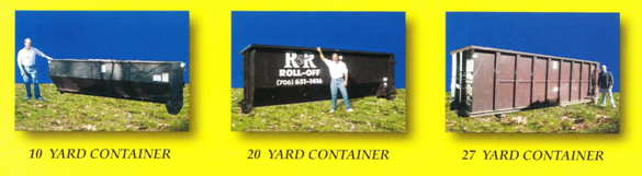 R & R Dumpster & Roll-Off Service, Inc. - Dumpster Sizes