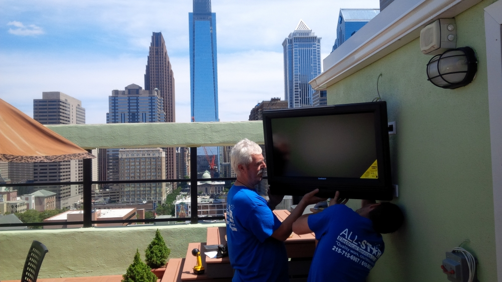 All Star Electrical Services, LLC - Mounting Television On Deck