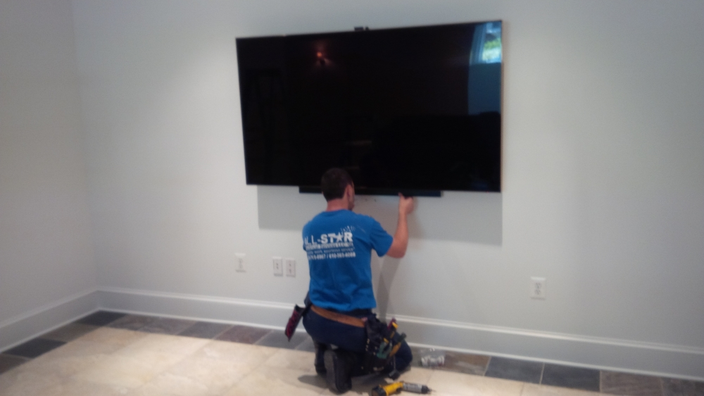 All Star Electrical Services, LLC - Mounting Television in Home