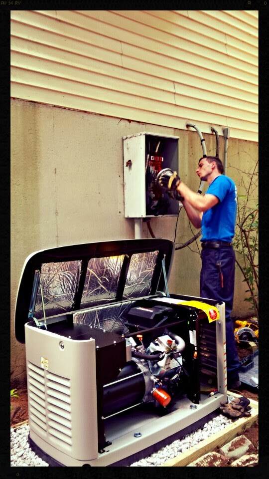 All Star Electrical Services - Installing backup generator