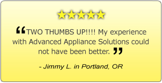 Advanced Appliance Solutions - customer review