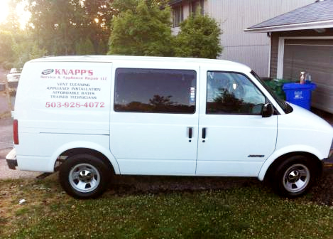 Knapp's Service & Appliance Repair LLC - repair van