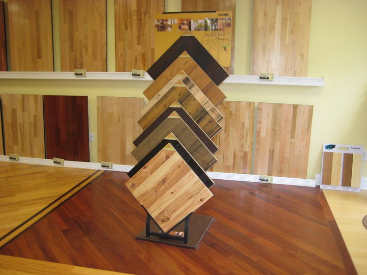 Hansen's Wood Flooring - Our Hardwood Choices Display