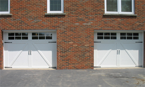 McMurray Garage Door - Double White Garage Doors
