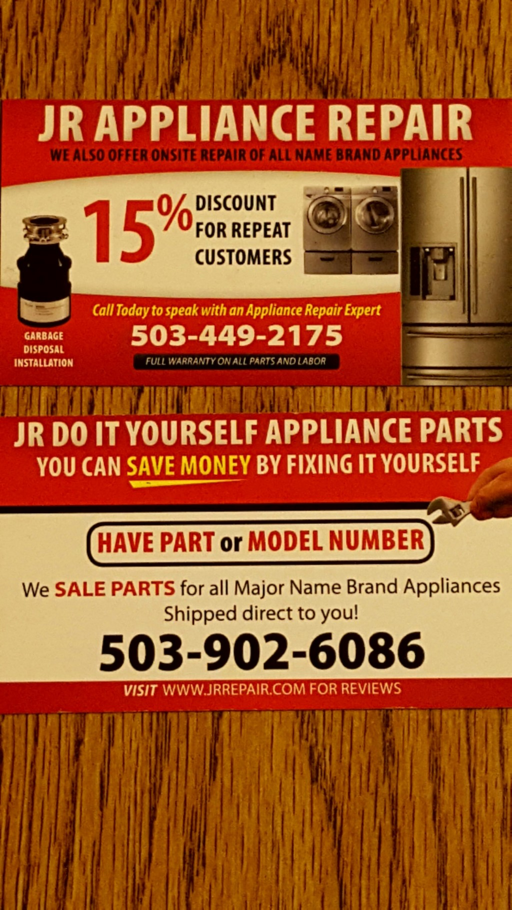 JR Repairs & Installs - Business Cards