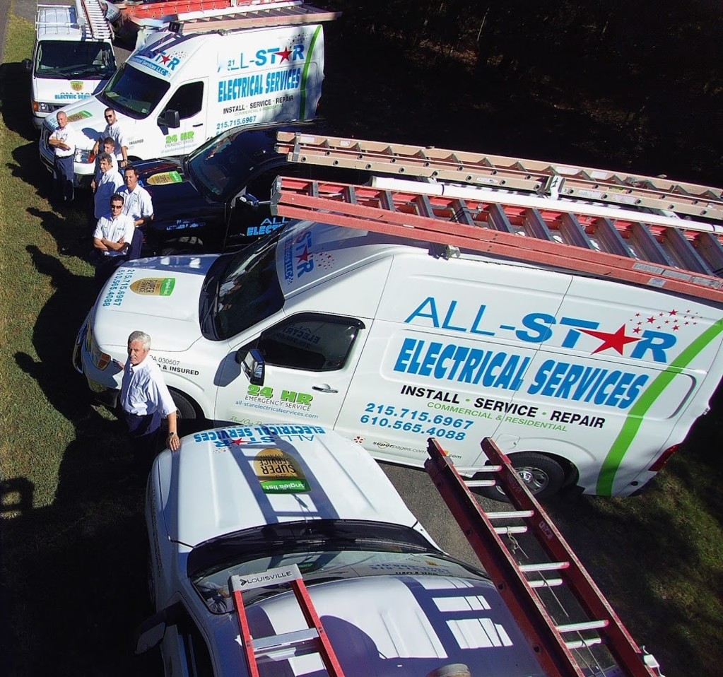 AllStar Electrical Services- Team Photo from Above