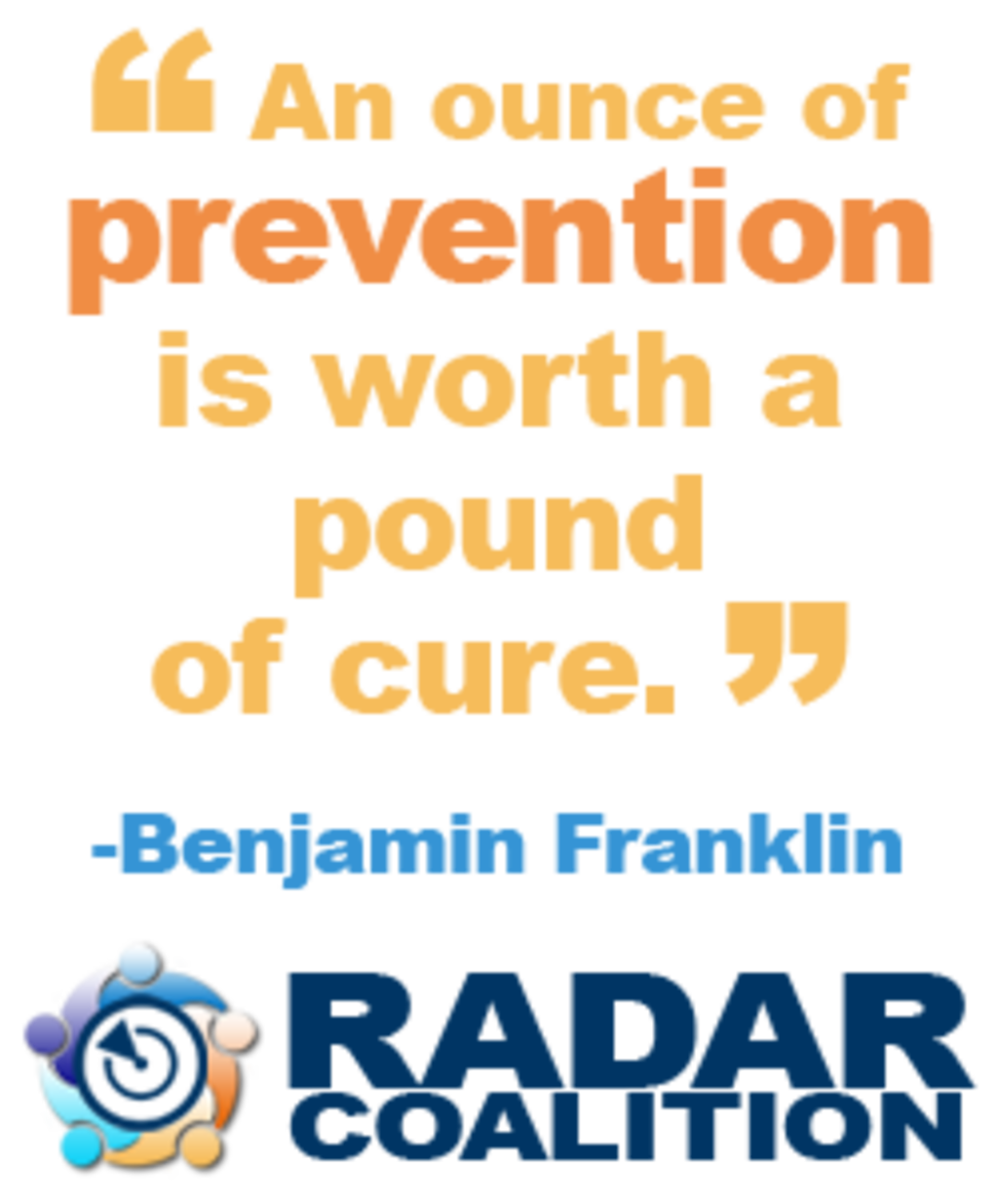 RADAR Coalition - Prevention Graphic