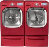 Essential Appliance, Inc.- Red Washer and Dryer
