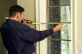 Comfortex Blinds Installer Hanging Wooden Blinds