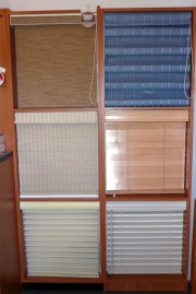 The Blind Store - Store display of different types of shades