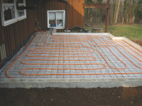 Airco - Radiant heating system prior to floor installation